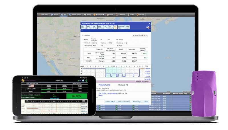 R&L Fleet Management - ELD Driverlog Monitors